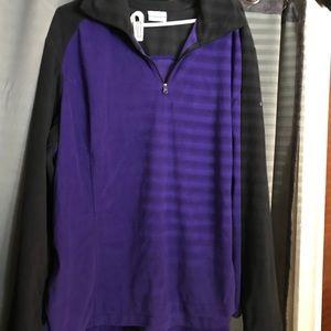 Columbia 3X purple/black fleece sweater